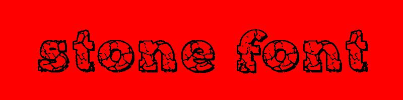 線上英文石頭字型產生器,快速將英文字轉換成英文石頭字型 ,系統支援WIN+MAC蘋果系統
